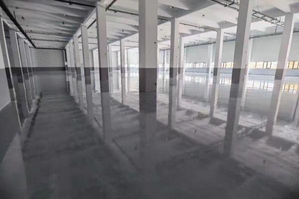 合肥某工业厂房环氧砂浆地坪+聚合物超耐磨